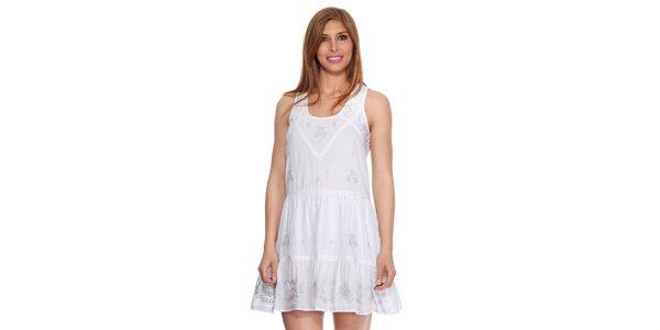 Dámské bílé šaty bez rukávů Janis