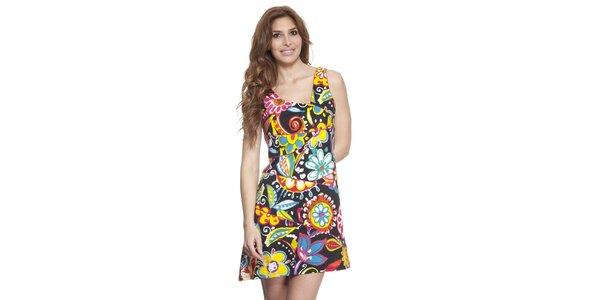 Dámské barevné šaty s asymetrickým výstřihem Janis