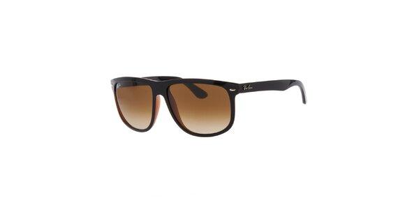 Pánské černo-hnědé sluneční brýle Ray-Ban