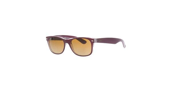 Fialové sluneční brýle s transparentní částí Ray-Ban