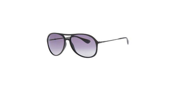 Černé sluneční brýle s úzkými stranicemi Ray-Ban