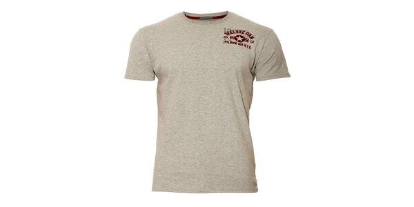 Pánské světle šedé triko značky Deeluxe