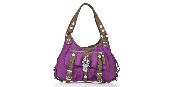 Dámská fialová kabelka s kontrastními lemy George Gina and Lucy