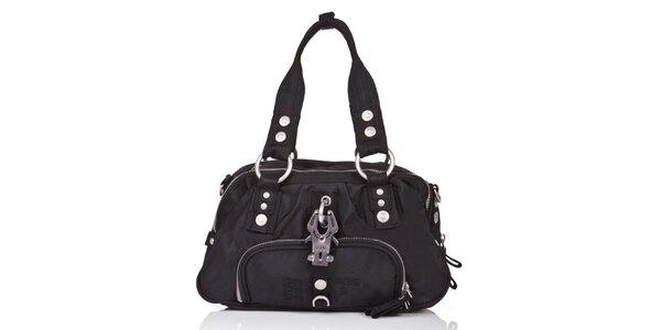 Dámská černá kabelka se zipy George Gina and Lucy