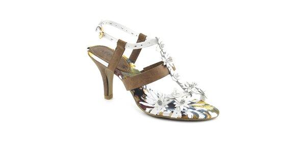 Dámské sandálky s květinkami Café Noir