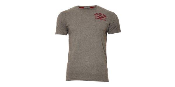Pánské šedé triko značky Deeluxe