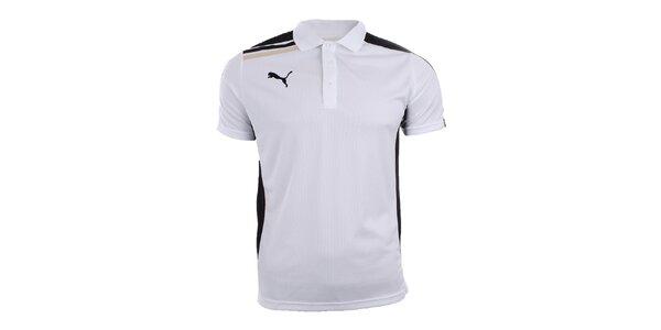 Pánské bílé polo tričko s černými prvky Puma