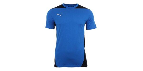 Pánské královsky modré tričko s černými prvky Puma