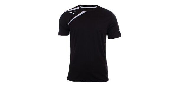 Pánské černé tričko s bílými prvky Puma