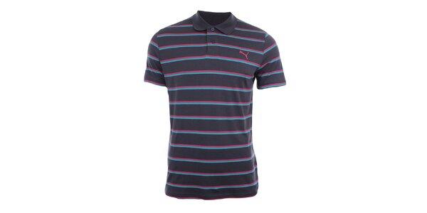 Pánské polo tričko s barevnými proužky Puma