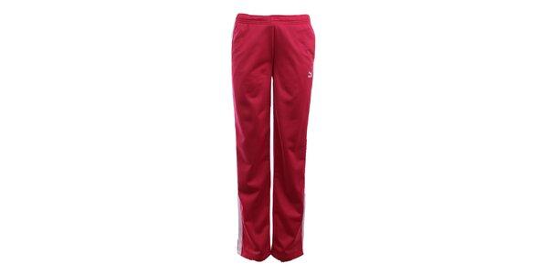 Dámské červenorůžové sportovní kalhoty Puma