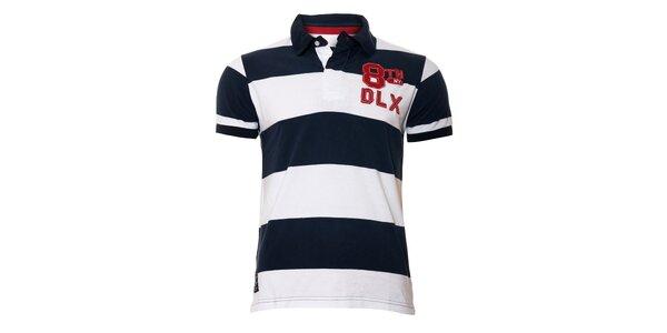 Pánské polo tričko v námořnické modré značky Deeluxe