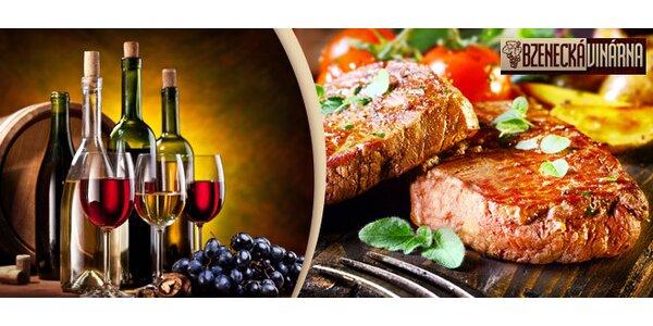 Výborné steakové menu ve Bzenecké vinárně
