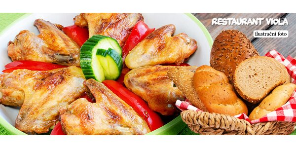1500 g kuřecích křidélek na grilu pro celou partu