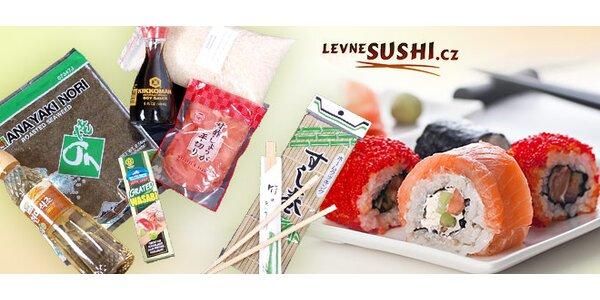 Set s výbavou a ingrediencemi pro milovníky sushi