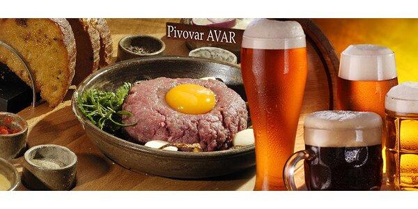 Tatarák pro dva + ochutnávka piv zdarma!