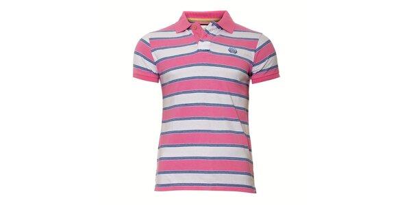 Pánské polo triko v růžové barvě Deeluxe
