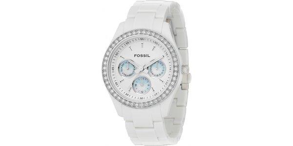 Dámské bílé hodinky Fossil