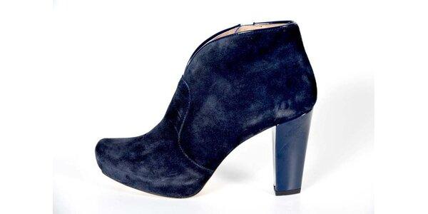 Dámské indigově modré kotníkové boty Bluegenex