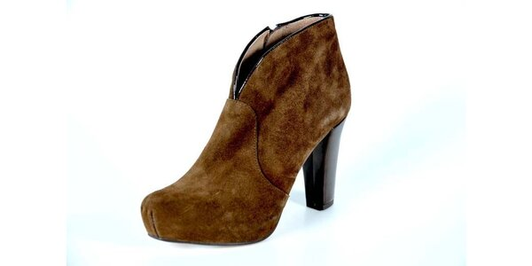 Dámské hnědé kotníkové boty Bluegenex