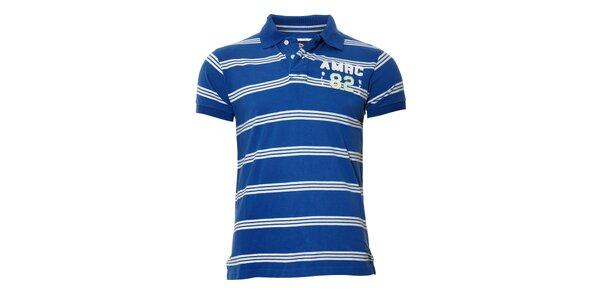 Pánské modré polo triko Deeluxe