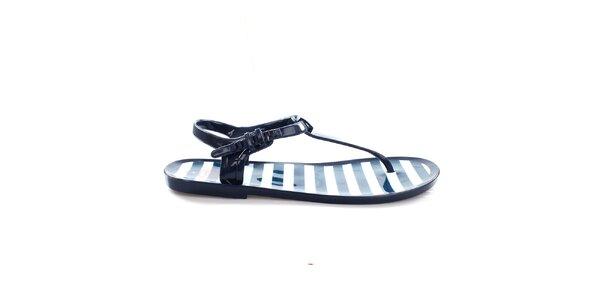 Dámské tmavě modré sandálky s proužky So Real