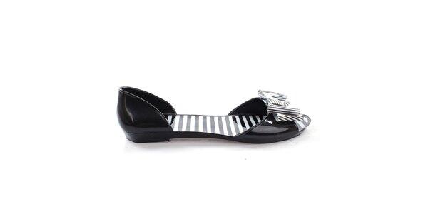 Dámské černé letní boty s mašlí So Real