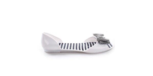 Dámské bílé letní boty s mašlí So Real