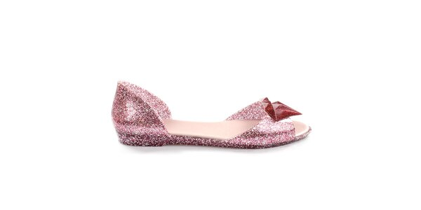Dámské růžové třpytivé sandálky So Real