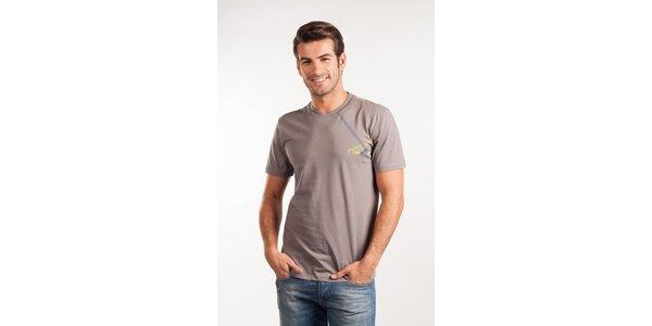 Pánské světle šedé tričko Calvin Klein