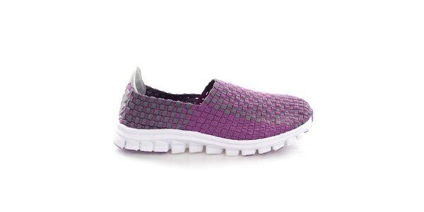 Dámské fialovo-šedé proplétané boty So Real