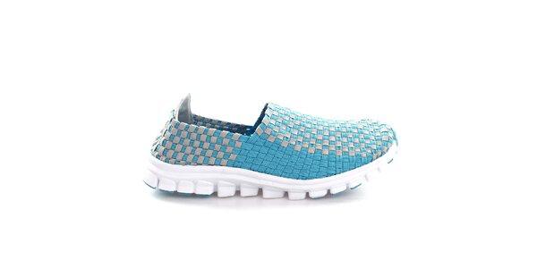 Dámské modro-šedé proplétané boty So Real