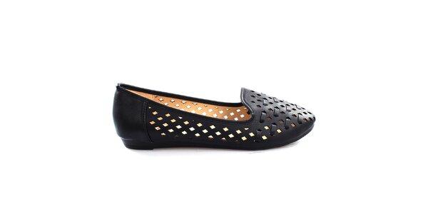 Dámské černé perforované loafers So Real