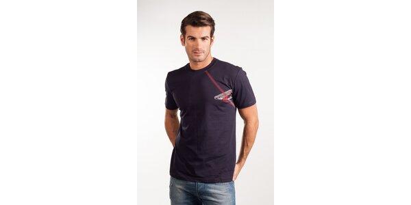 Pánské tmavě modré tričko Calvin Klein