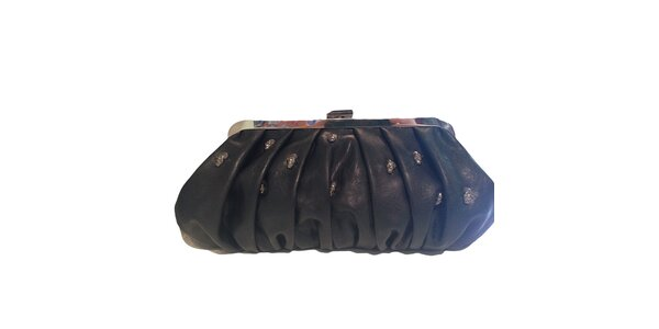 Dámská černá kabelka do ruky s lebkami The Style London