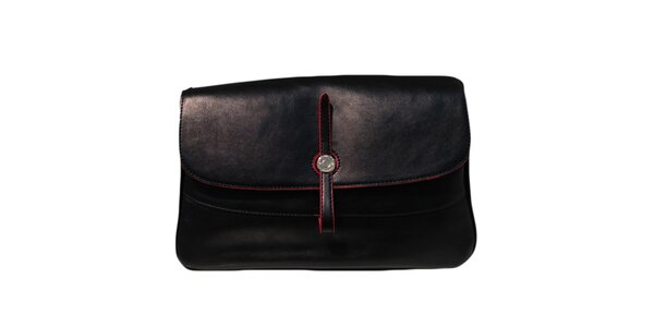 Dámská černá kabelka s obrácenou přezkou The Style London