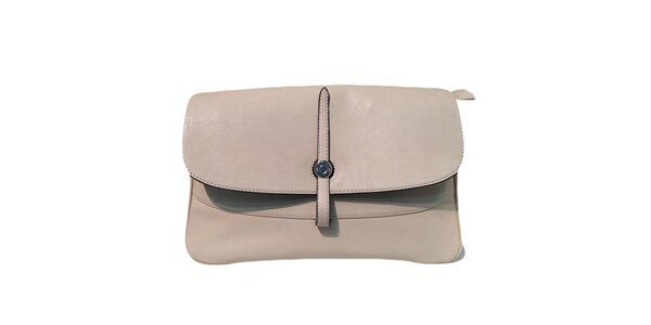 Dámská krémová kabelka s obrácenou přezkou The Style London