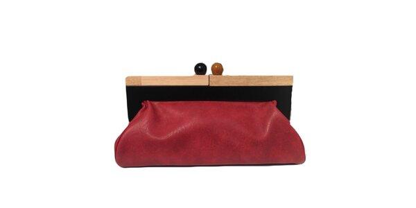 Dámská červená kabelka s retro zapínáním The Style London