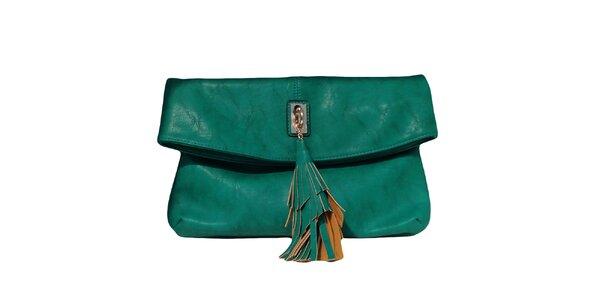 Dámská tmavě zelená kabelka se střapcem The Style London
