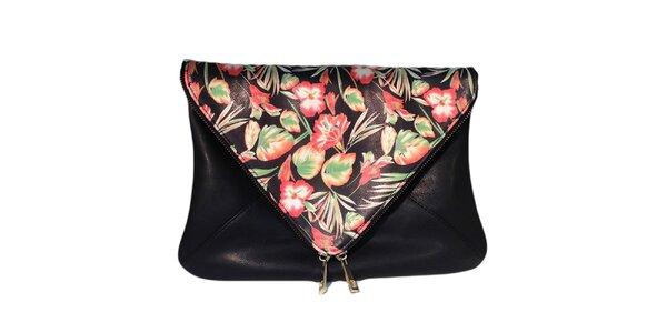 Dámská černá taška s květinovou klopou The Style London