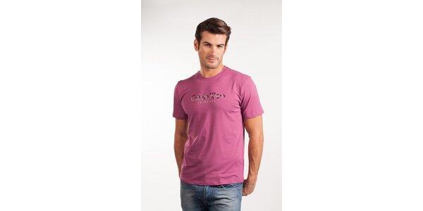 Pánské růžové tričko Calvin Klein