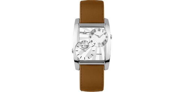 Pánské ocelové hodinky s dvojitým ciferníkem Jacques Lemans