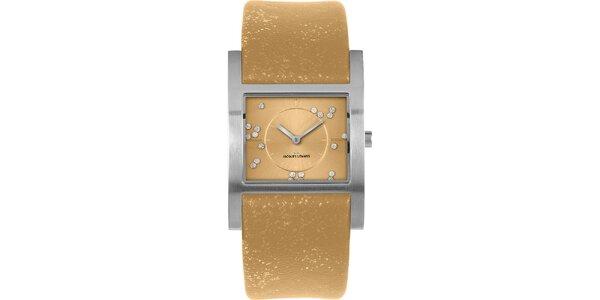 Dámské třpytivé hodinky s krystaly Jacques Lemans