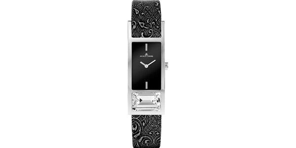 Dámské ocelové hodinky se vzorovaným řemínkem Jacques Lemans