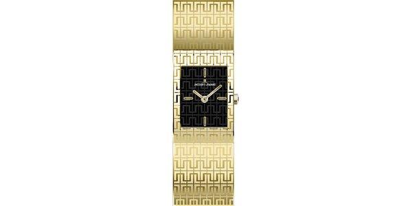 Dámské ocelové hodinky ve zlaté barvě Jacques Lemans