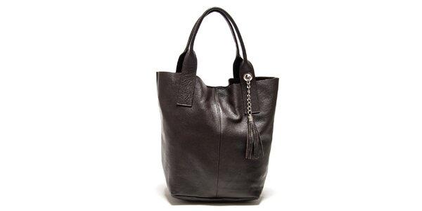 Dámská tmavě hnědá kabelka s třásněmi Isabella Rhea