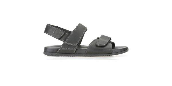 Pánské černé sandály Clarks