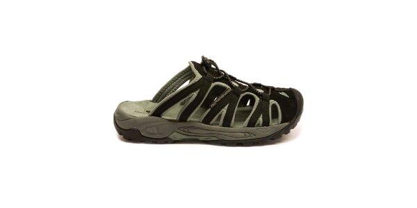 Pánské černo-šedé nazouvací sandály Numero Uno
