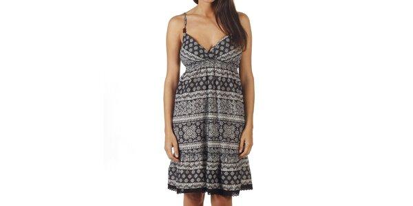 Dámské černo-bíle vzorované šaty na ramínka Ada Gatti