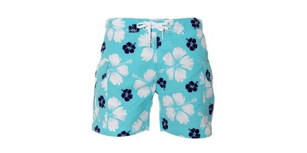 Havajské pánské plavky ve světle modré barvě Deeluxe
